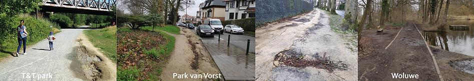 Brussel looppaden kwaliteit ondergrond