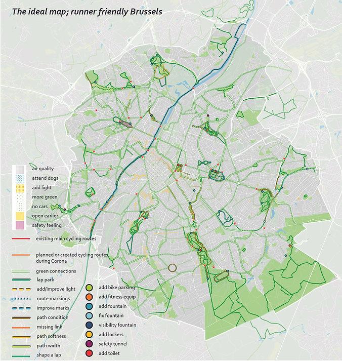 Brussel_een groen beweegnetwerk fietsroutes looproutes bewegende stad