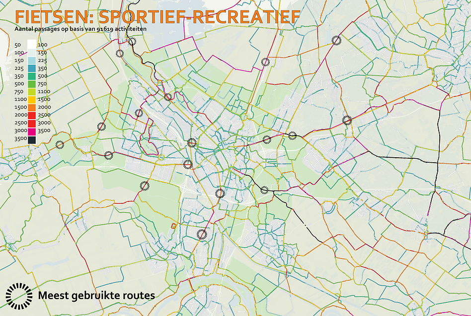 track landscapes racefietsen data fietsroutes heatmap utrecht.p