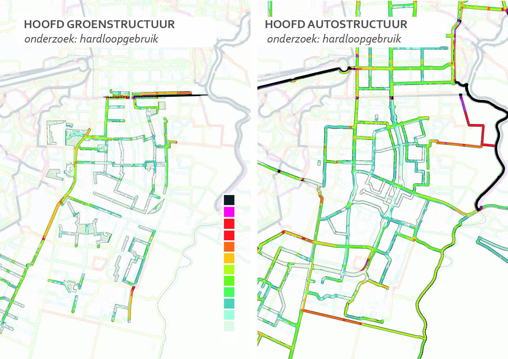 Amstelveen app data hardlopen ruimtegebruik groenstructuren