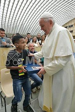 Arte no Dique em encontro com o Papa .jp