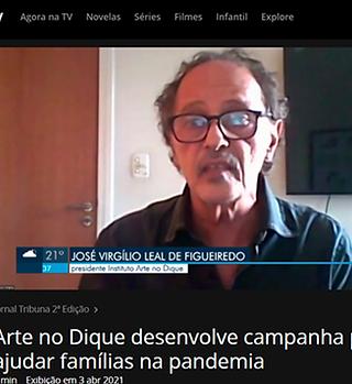 Jornal da Tribuna Arte no Dique 03.04.21