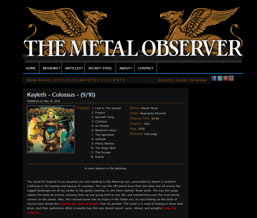 The MetalObserver Colossus Review