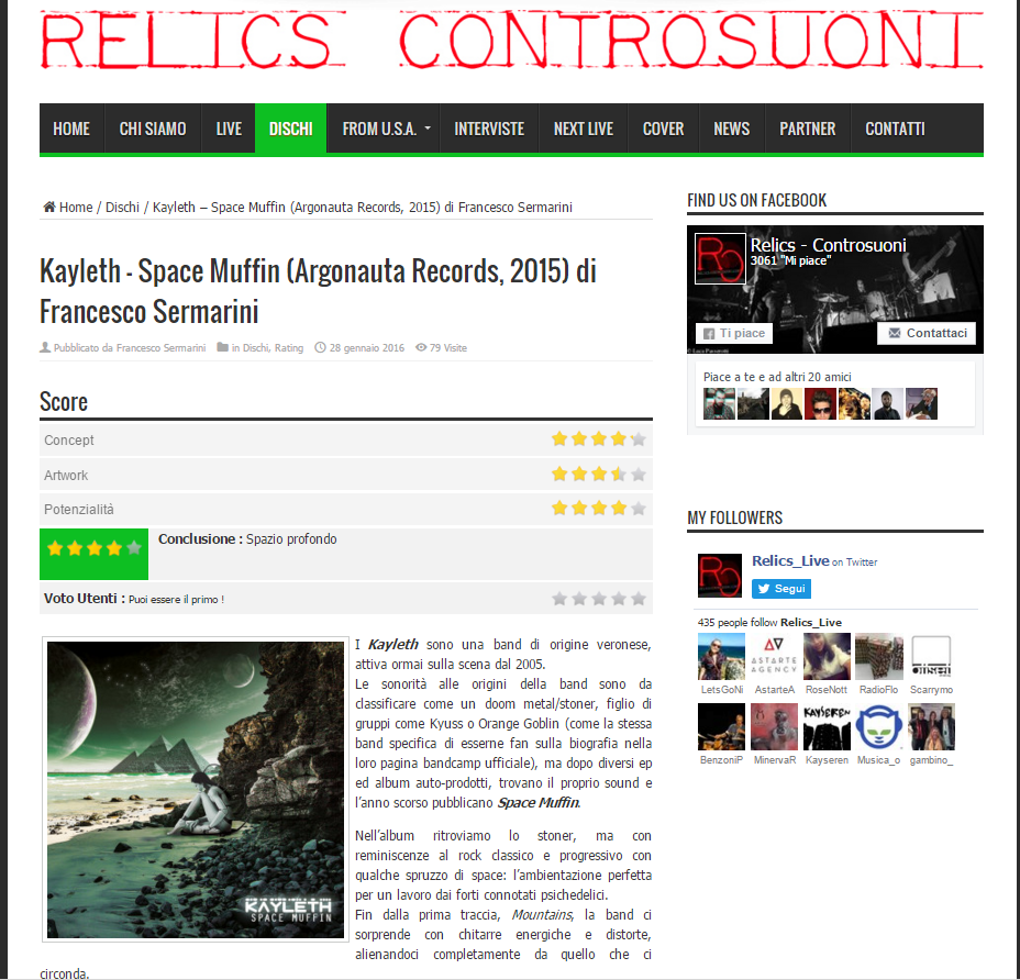 Review by Relics Controsuoni