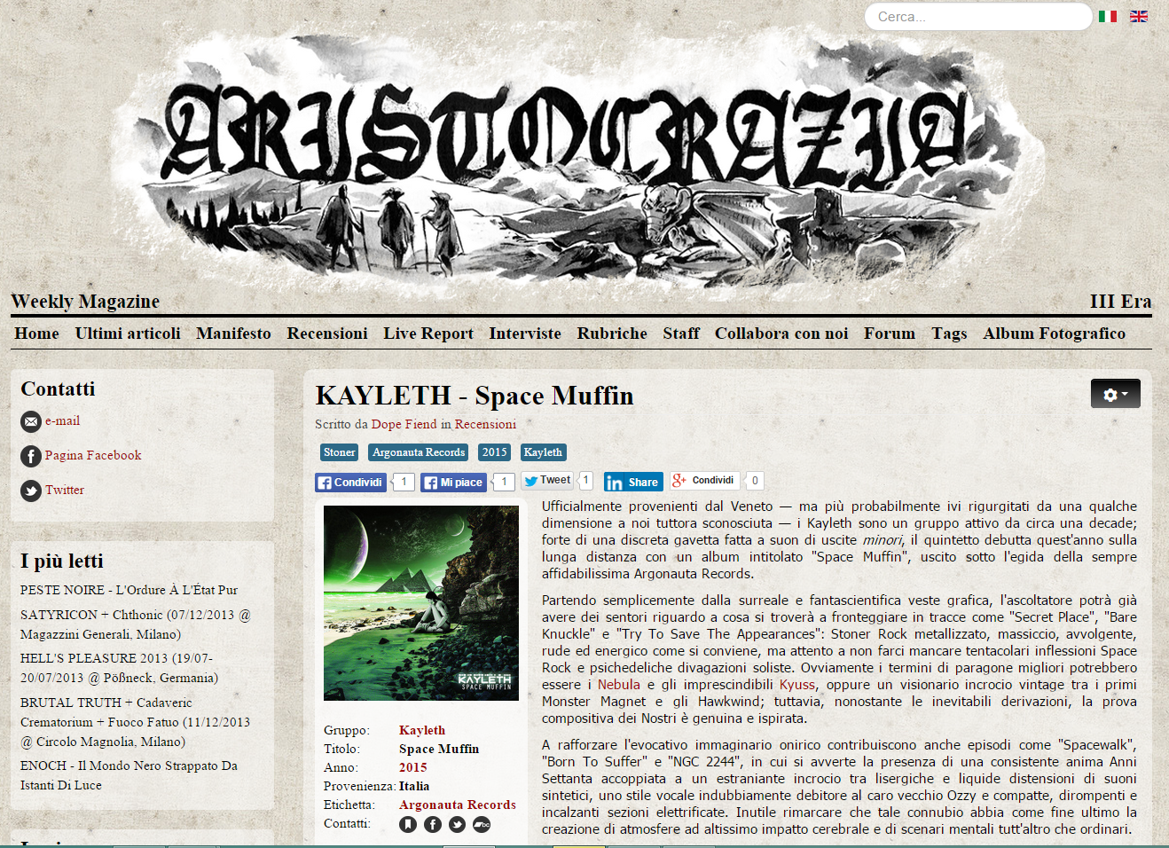 Review by Aristocrazia Webzine