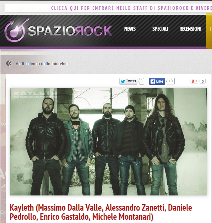 Interview by SpazioRock