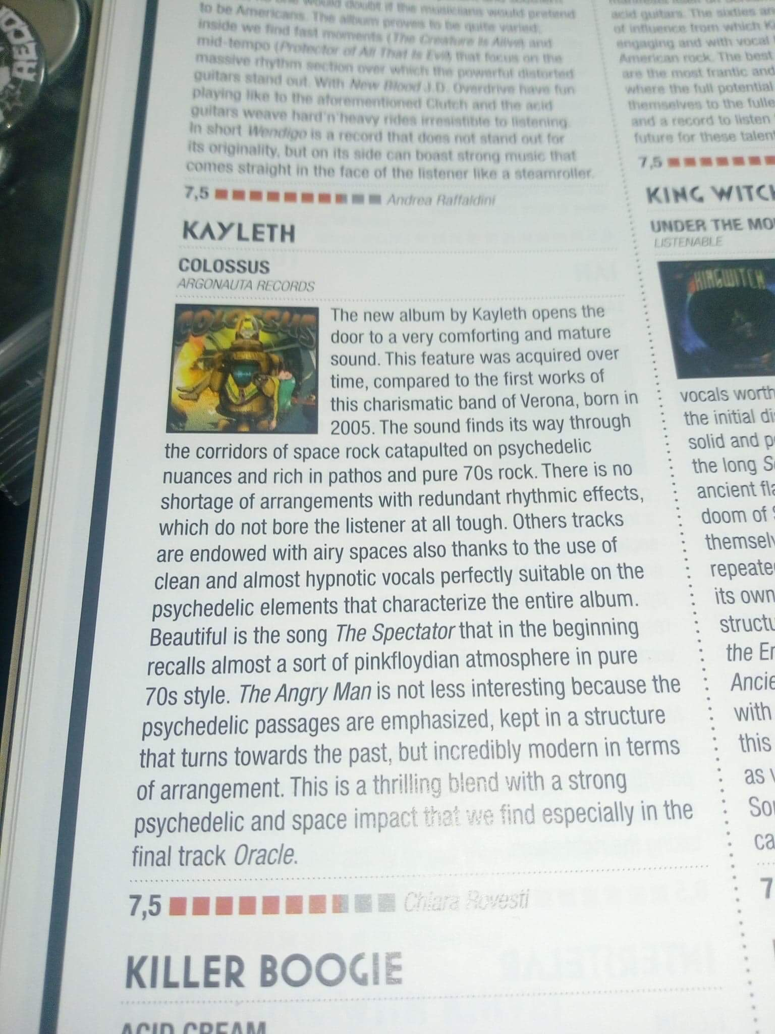 "Fire Magazine ""Colossus"" review"