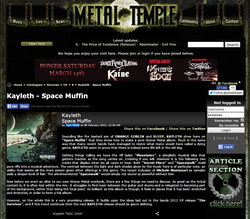 Review by Metal Temple