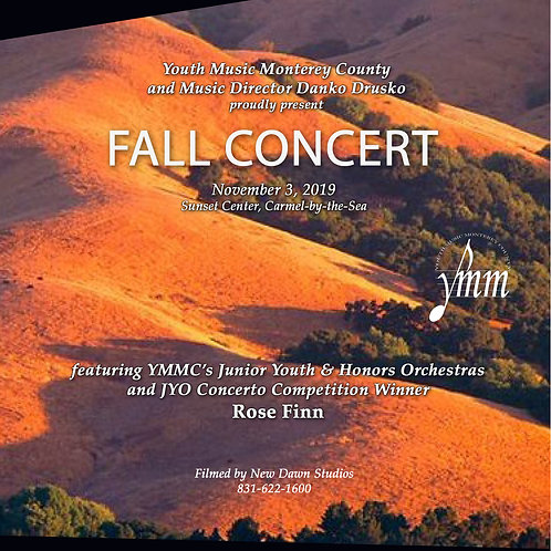 2019-2020 Concert I: Fall Concert (Video DVD)