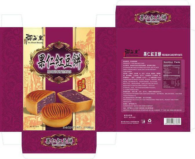 果仁紅豆餅