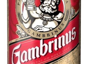 Gambrinus Patron 12, světlý ležák 0,5l plech
