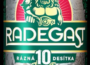 Radegast Rázná 10, sv. výč. pivo 0,5l plech