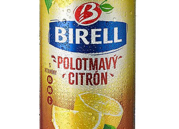 Birell Polotmavý – Citrón, míchaný nápoj z nealk. polotmavého piva s příchutí ci