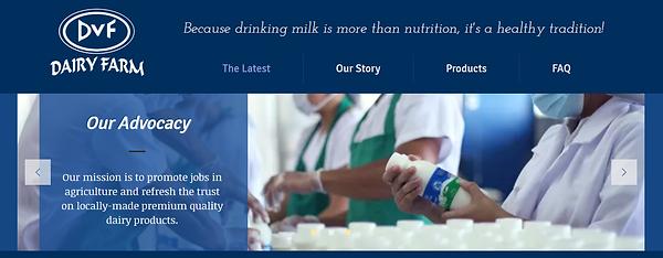 DVF Website Header
