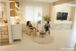 עיצוב פינת ישיבה בבית משופץ