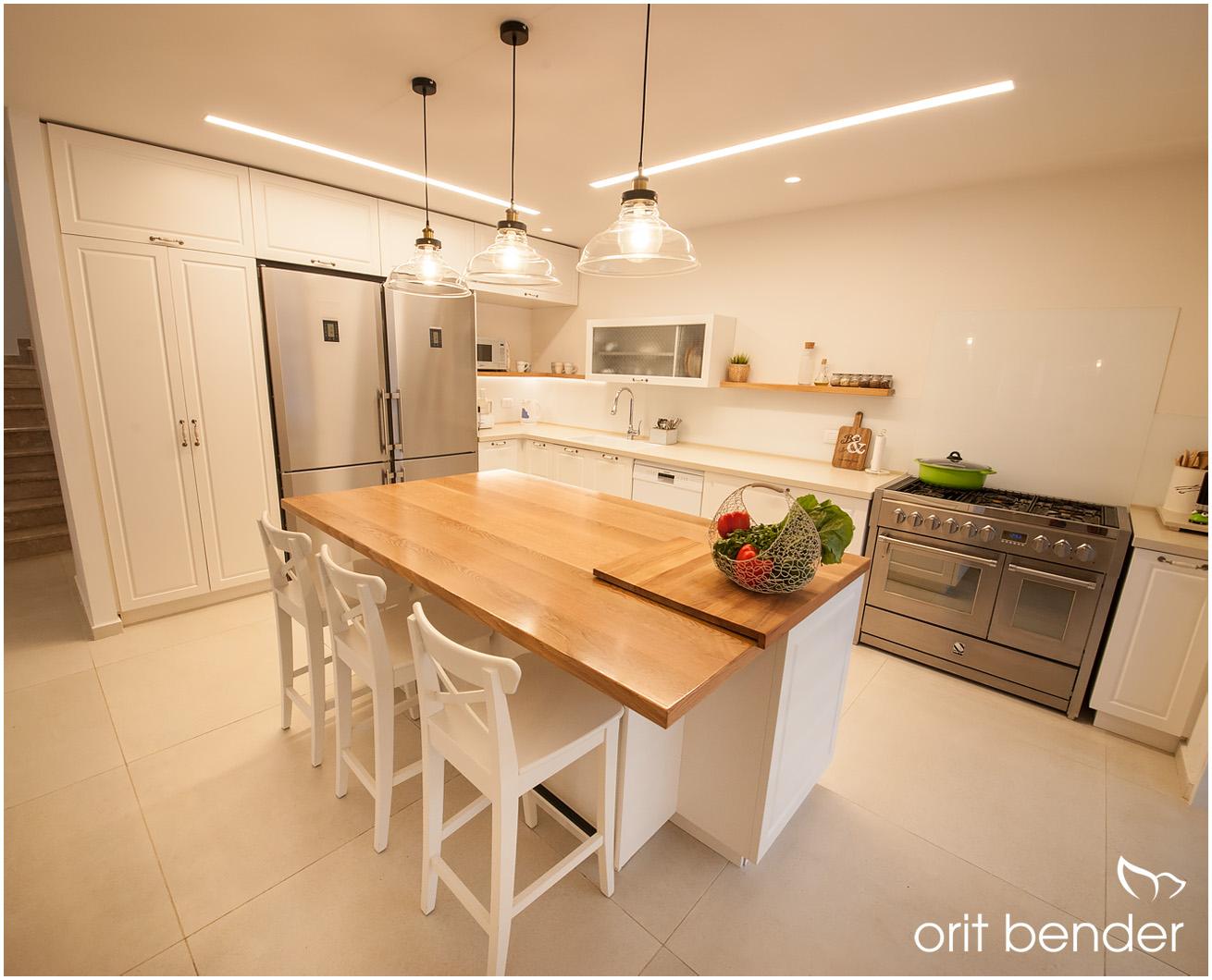 עיצוב מטבח בבית משופץ בשוהם
