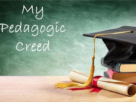 My Pedagogic Creed*