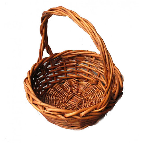Basket Round Dark Willow Loop - Med