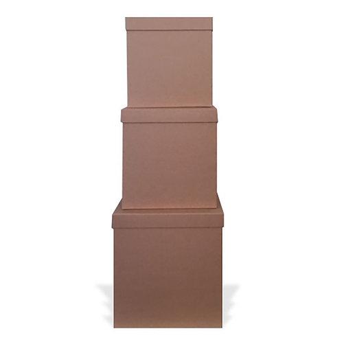 Square Natural Paper Mache Boxes