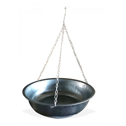 Zinc Round Hanging Planter Pot - Small