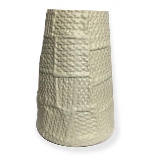 Ceramic Vase - Patchwork Light Grey