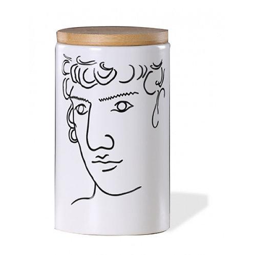 Lidded Jar with Face