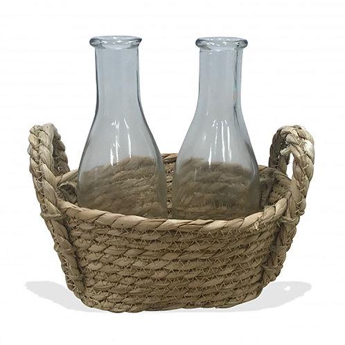 Natural Basket - 2 Bottles