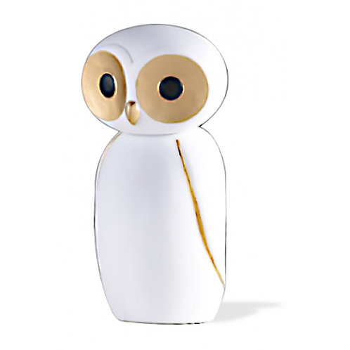 Owl - Gold & White