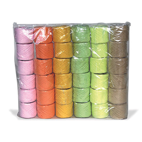 Raffia Assorted Ribbon - 36 Pack