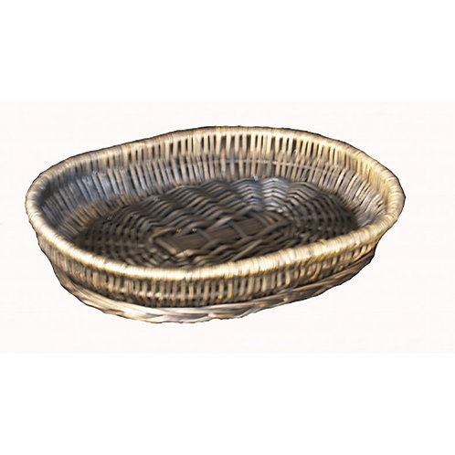 Tray Oval Willow Grey/wash Small