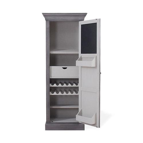Bramble Sonoma Narrow Kitchen Cupboard Smokey Grey/Dew Interior