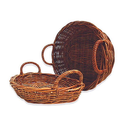 Oval Fruit Basket Large Rattan