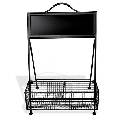 Rectangle Mesh Wall Tray - with Blackboard
