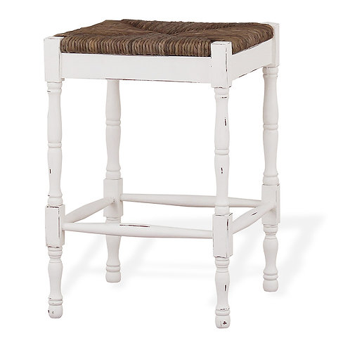 Bramble Veranda Counter Stool White Harvest Rush Seat