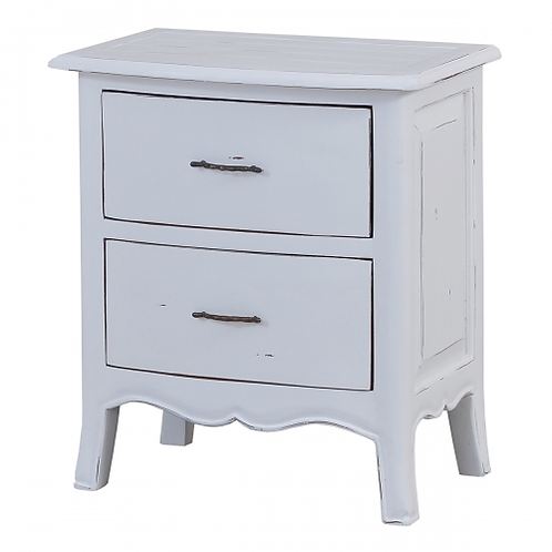 Bramble Bowfront Nightstand - Architectural White