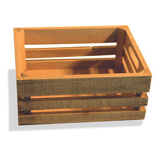 Crate Wooden Natural Small