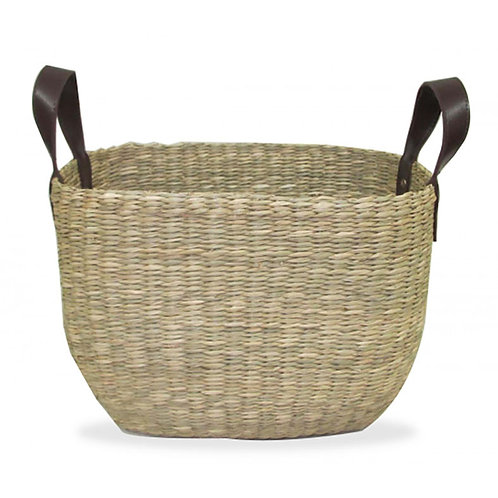 Oval Seagrass Basket - Natural