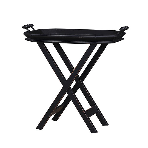 Bramble Summer Time Tea Table with Tray - Black