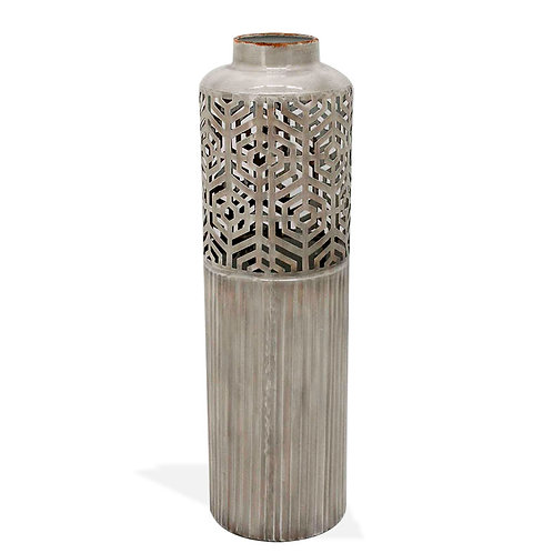 Metal Vase Cut Design - Medium