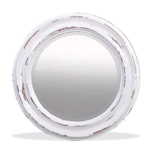 Bramble Emmett Circular Mirror - White Harvest