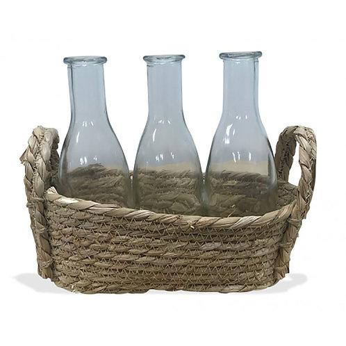 Natural Basket - 3 Bottles