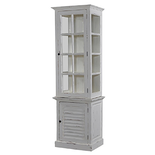 Bramble Cottage Tall Cabinet with Glass - White Harvest