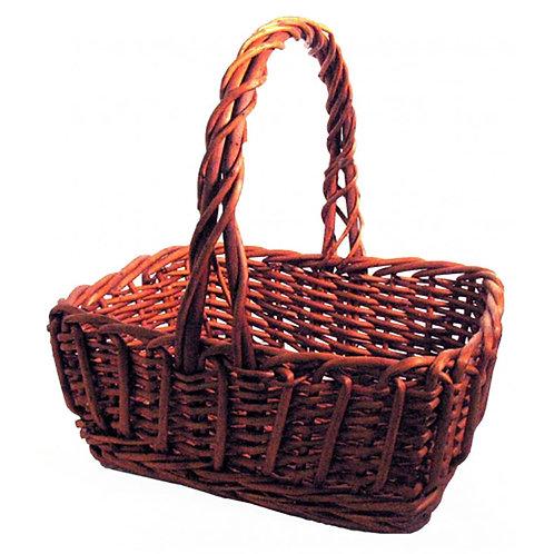 Basket Rect Dark Willow Loop - Lge