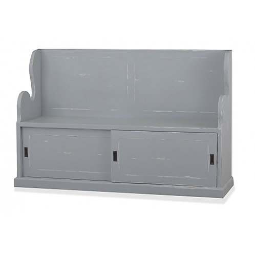 Bramble Lincoln Entry Bench Large - Grey Mist