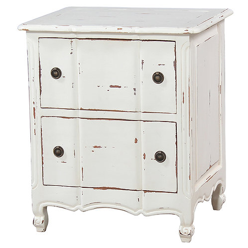 Bramble Provence Night Stand White Harvest