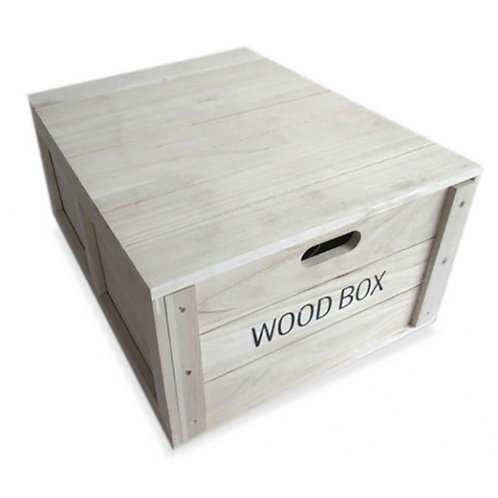 Wooden Rectangle Storage Box - Large