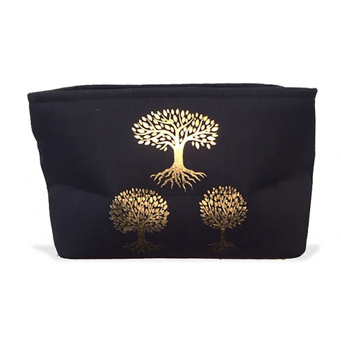 Black Storage Bag - Gold Tree's