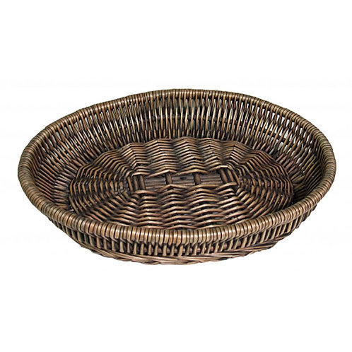 Tray Oval Willow Grey/wash Large