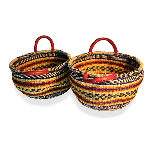 Seagrass Basket - Multi Colour - Set of 2