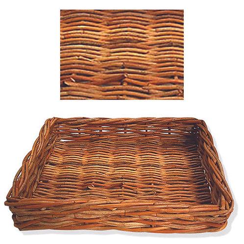 Rattan Flat Rectangle Tray - Large